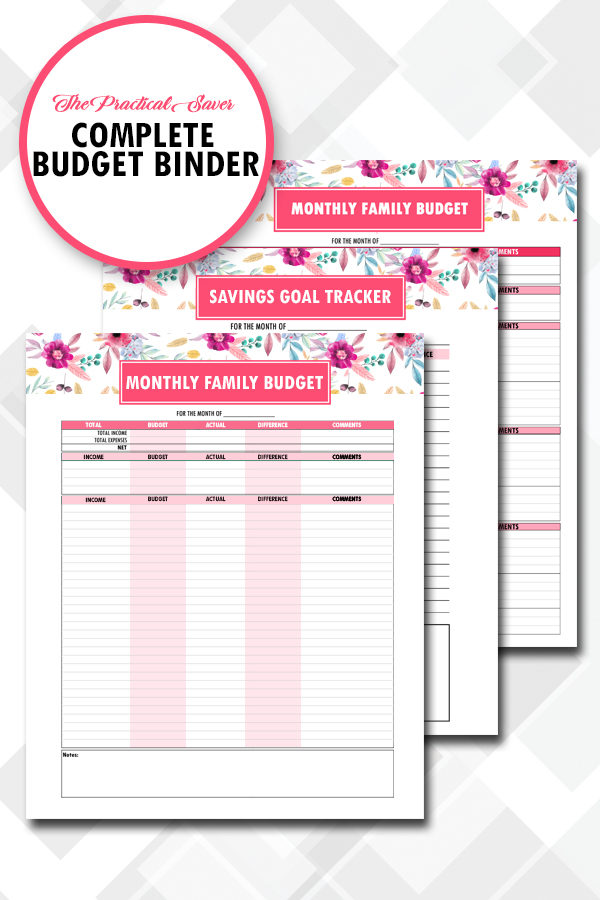 graphic about Printable Budget Binder identified as Finances Binder Printables (24 webpages)