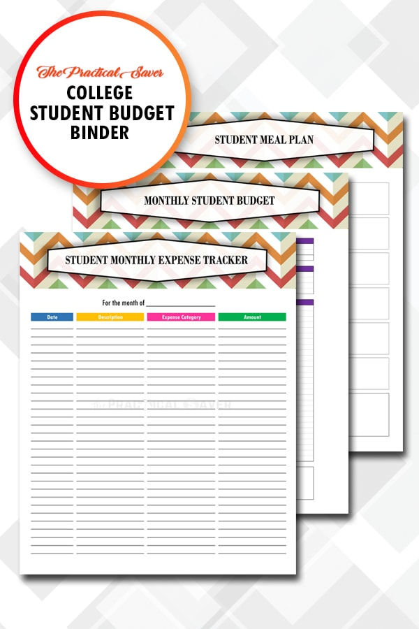 photo about College Binder Organization Printables named School Scholar Spending budget Binder Printables